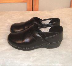 92c08fc949c Dansko Sz 6.5 - 7 US 37 EU Pro Black Box Leather Comfort Occupational Clogs