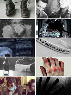 "steveandbucky: "" marvel character aesthetic ,  james buchanan 'bucky' barnes / the winter soldier ""who the hell is bucky?"" """