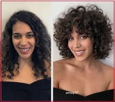 Curly Hair Styles, Curly Hair With Bangs, Curly Hair Tips, Long Curly Hair, Short Hair Cuts, Curly Girl, Curly Hair Fringe, Short Curls, Curly Short
