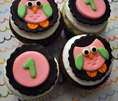 Owl cupcake toppers....maybe these, they are super cute too!  I'm afraid of fondant though!