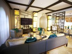 Eclectic Living-rooms from David Bromstad on HGTV