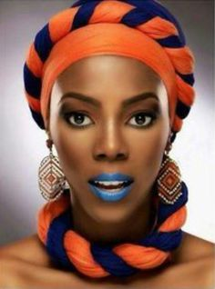A Gele is a flat piece of fabric (typically Aso Oke (Jean-like fabric), Brocade (Starched Cotton fabric), African Print, Paper-like fabri. African Men Fashion, African Dresses For Women, African Beauty, African Women, African Makeup, African Head Wraps, Head Wrap Headband, Head Wrap Scarf, Bad Hair