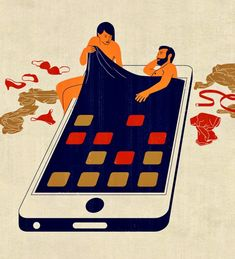 Altpick.com : News : Joey Guidone's illustration, Infidelity and Technology, conceptual, editorial, boston globe, art direction by Jane Martin,