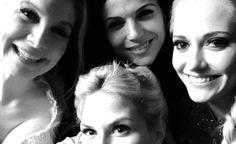 "Jennifer Morrison via Twitter 4 Sept 2014 ""Day 11: night shoot with these ladies @LanaParrilla @GeorginaHaig #ElizabethMitchell 101smiles #UglyDucklings"""