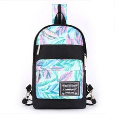 Fansela(TM) Girls Designer Pattern Print Polyester Cute Daypack Backpack Feather. Super fashion casual daypack, made of durable practical high quality Polyester. 2015 new pattern print design,you are not as the same as others. Side pockets on both sides of the bag, can place phone bottle umbrella, etc. Attribute: durable, adjustable shoulder straps. Please allow little color difference due to different camera or light environment.