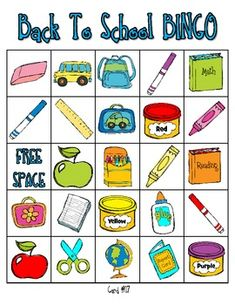photograph relating to Back to School Bingo Printable identified as 190 Easiest Concept: Again in the direction of College or university illustrations or photos within 2019 Preschool