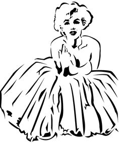 Gallery For > Marilyn Monroe Bandana Stencil