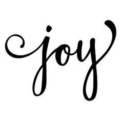 Silhouette Design Store - View Design #159121: joy word