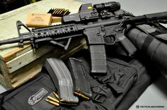 AR 15, pretty much exactly like the one I have at home. With the exception of the sights. Think I want an ambidextrous bolt release lever and a more aggressive looking flash suppressor.