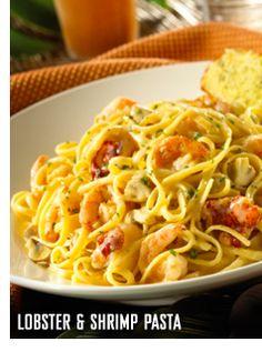 Caribbean Recipes - Lobster and Shrimp Pasta from Bahama Breeze