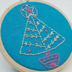 hand embroidery pattern christmas tree septemberhouse