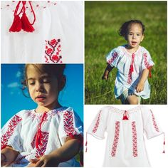 Traditional Romanian Blouse for Kids<3 #romanianlabel #photovisionsibiu