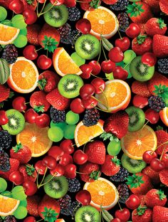 Fresh Squeezed by Maria Kalinowski from Kanvas Studio - Fruit Salad - Black