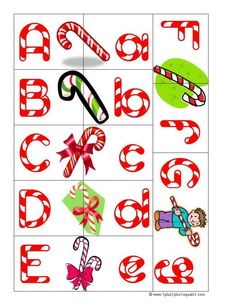 Use letters to find beginning sounds of Christmas things to put in the gift.