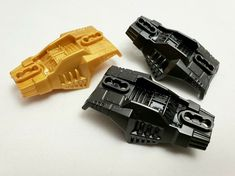 Lego 4 New Pearl Gold Hero Factory Weapon Half Claw Pieces