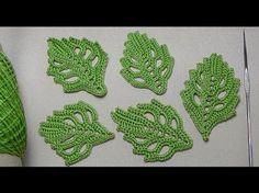 Как связать объемный ЛИСТИК - урок вязания крючком для начинающих - How to crochet leaf - YouTube