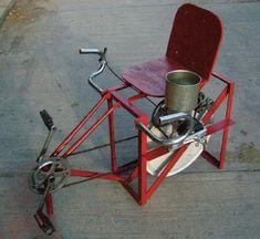met de fiets aangedreven apparaten