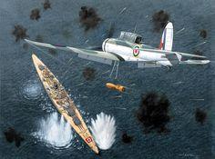 1940 June 13th a Blackburn Skua attacks KMS Scharnhorst