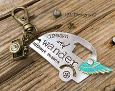 Dream and wander without reason - hand stamped airstream trailer clip - personalized accessaries - Edit Listing - Etsy