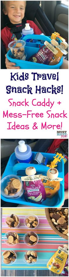 The BEST Travel Snack Hacks For Kids! Do THIS Before Your Next Road Trip!