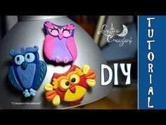 ▶ Polymer Clay Tutorial: Calamite con Gufi in pasta polimerica | How to make Owl Magnets - YouTube