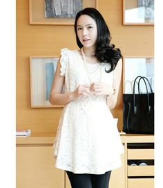 Wholesale Solid Color Scoop Neck Sleeveless Lace Dress For Women - Rosewholesale.com