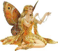 Fada com asas de borboleta #fadas