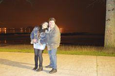 Paseito al lado del mar antes de irnos a cenar!!!