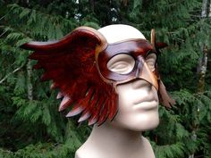 Leather Hawk man mask by SkinzNhydez on Etsy https://www.etsy.com/listing/215477253/leather-hawk-man-mask