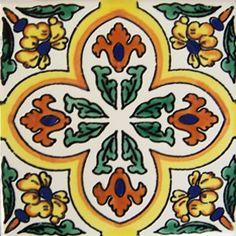 Mexican Talavera tile: oc 125