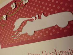 Hochzeit - wunderschöne moderne Hochzeitskarte mit Auto - ein Designerstück von kreativesherzerl bei DaWanda