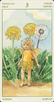 Spirit of Flowers Tarot A sweet and cute tarot of flowers, set in a wooded fairy-tale world. Every card in the Spirit of Flowers Tarot has a realistically drawn flower and a tiny, childlike fairy associated with it.  Read reviews of the Spirit of Flowers Tarot  Created by Antonella Castelli, Laura Tuan Tarot Deck - 78 Cards - Lo Scarabeo  เคยมี กำลังตามหา