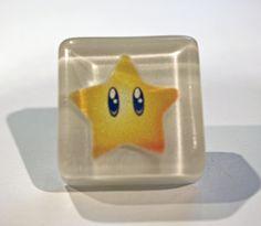 custom MARIO PARTY STAR drawer knob cabinet pull video game. $8.00, via Etsy.