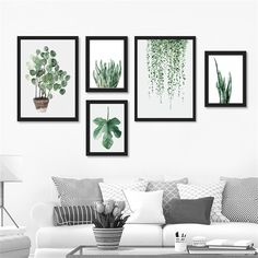 Watercolor Tropical Plant leaves Canvas Art Print Poster,Nordic Green Plant leaf rural Wall Pictures for Home Decoration DP0382-in Painting & Calligraphy from Home & Garden on Aliexpress.com | Alibaba Group
