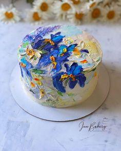 Для кондитеров: уроки, рецепты Поиск кондитеров   ВКонтакте Pretty Birthday Cakes, Pretty Cakes, Beautiful Cakes, Amazing Cakes, Buttercream Cake, Fondant Cakes, Cupcake Cakes, Painted Cakes, Just Cakes