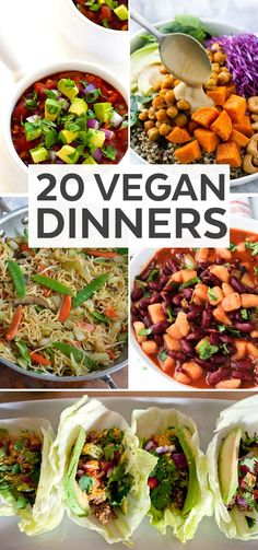If you're looking to add more vegan meals into your rotation, here are twenty awesome vegan dinner recipes you should try!