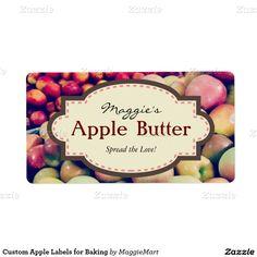 Custom Apple Labels for Baking #apples #applepie #applebutter #autumn #baking #homebusiness #labels #masonjar