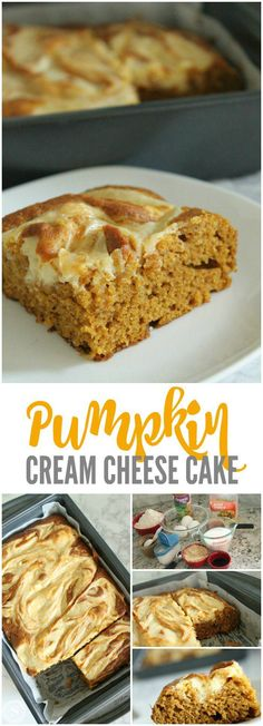 Pumpkin Cream Cheese Cake! Easy Dessert Recipe for Fall and Thanksgiving! One of my NEW favorite Fall Recipes!