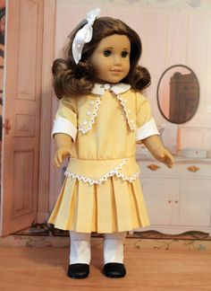 1914 Pleated Frock and Bloomers for American Girl Doll. $55.00, via Etsy.