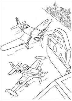 Dibujos para Colorear. Dibujos para Pintar. Dibujos para imprimir y colorear online. Aviones 33