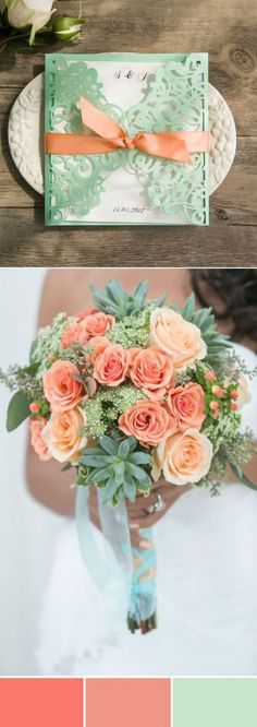 elegant peach and mint wedding color ideas colors peach Wonderful Mint Wedding Color Ideas With Elegant Wedding Invites Mint Bridal Showers, Simple Bridal Shower, Elegant Wedding Invitations, Wedding Themes, Wedding Decorations, Wedding Cakes, Mint Wedding Centerpieces, Peach Wedding Theme, Green Wedding