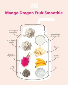 We're approaching summer, which is the season of tropical drinks, and this Mango Dragon Fruit Smoothie is the best way to stay cool in the heat while supporting your wellness goals! Dragon Fruit Smoothie, Fruit Smoothies, Protein Shake Recipes, Protein Shakes, Nutrition Products, Fruity Drinks, Meal Replacement Shakes, Unsweetened Almond Milk, Calorie Counting