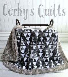 Minky Aztec Baby Blanket by CorkysQuilts on Etsy