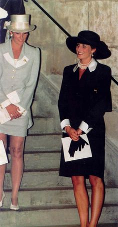Diana with Sophie Rhys-Jones, future wife of Prince Edward.