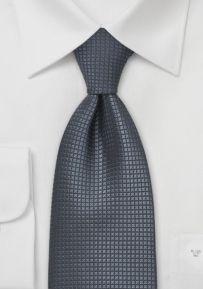 Silk Necktie in Dark Gray