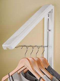 InstaHanger - Folding Wall Hanger - Space-saving hanger | Solutions.blair.com