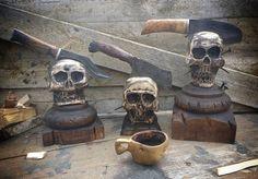 #customknives #rustic #blacksmith #cathillknives #kitchenknife #skull #skullart #sharp #blacksmith #käsityö #taottu #seppä #lựu #kitchentools #vikingstyle #keittiöveitset #teräs #carbonsteel # hullukyläseppä #riimut #runes  Yummery - best recipes. Follow Us! #kitchentools #kitchen