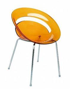 cadeira acrilico colorida