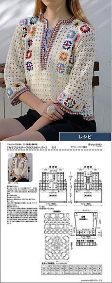 """Pulli Granny Square [   """"Like   <br/>    Crochet"""