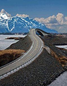 L'image du jour : La route de l'Atlantique à travers la Norvège.